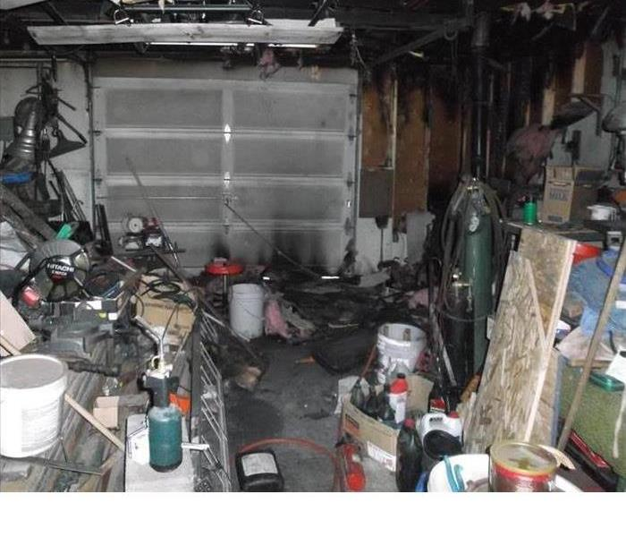 fire damaged garage